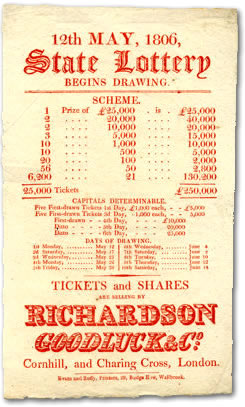 Handbill issued by Richardson Goodluck & Co, 1806