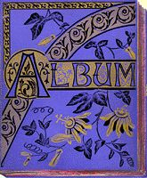 Blue album cover with passion flower design