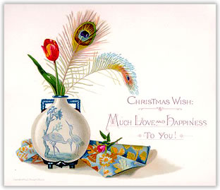 Victorian greeting card manufacturers for christmas the new year mouseover to see reverse of card m4hsunfo