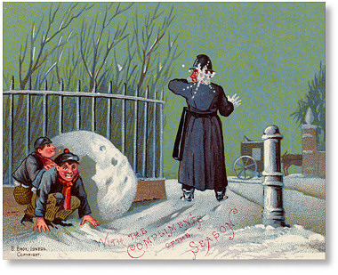 victorian christmas card published by birn brothers london