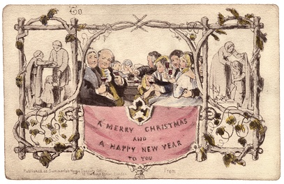 Image of first commercial Christmas card 1843